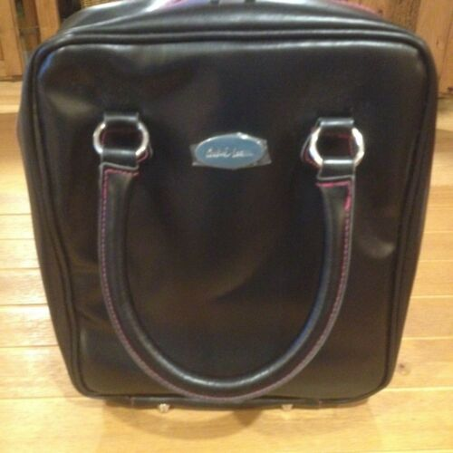 NEW COOKIE LEE Black Faux Leather Jewelry Travel Display Sample Carry Case