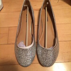 Never Worn Flat Silver shoes