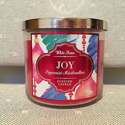 Bath & Body Works 14.5oz. *JOY PEPPERMINT MARSHMALLOW* 3 Wick Candle