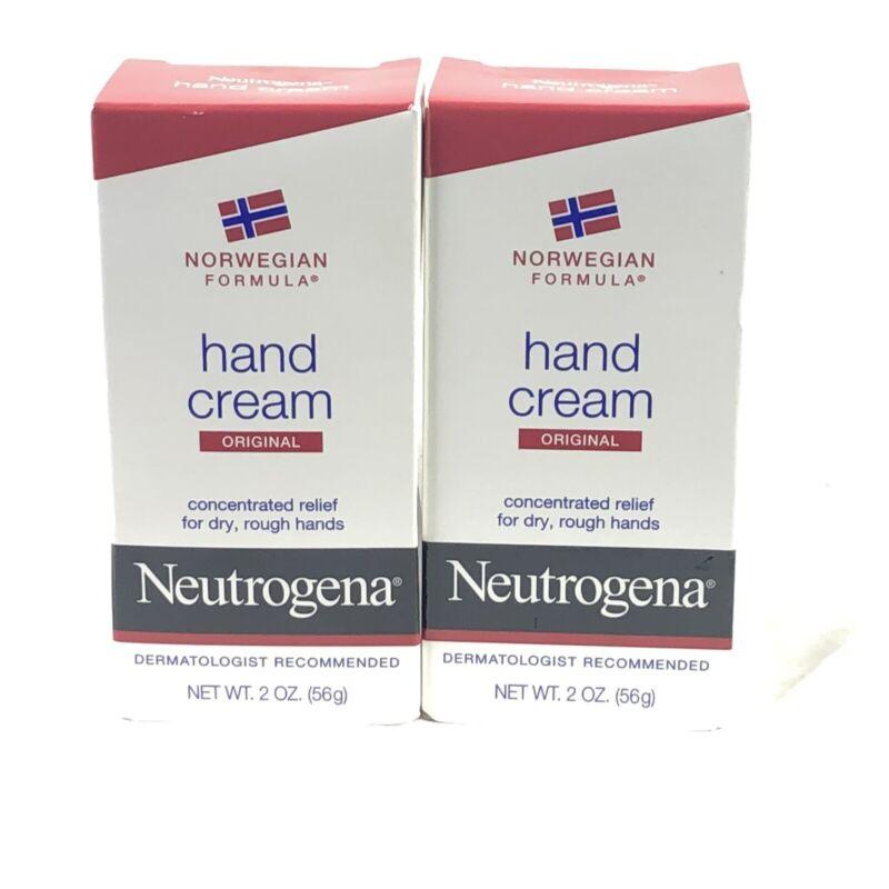 Lot of 2 Neutrogena Norwegian Formula Original Hand Cream 2 oz