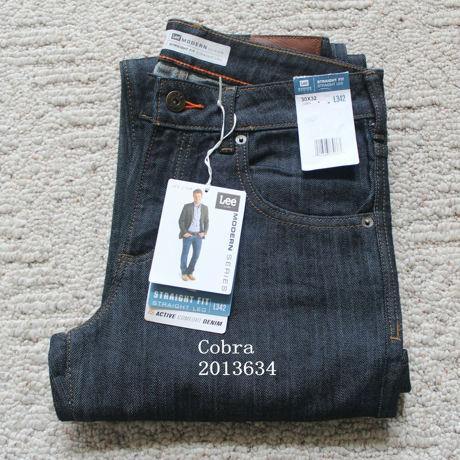NWT Lee Men/'s Regular Fit Modern Series Straight Leg Denim Jeans 20136 On Sale