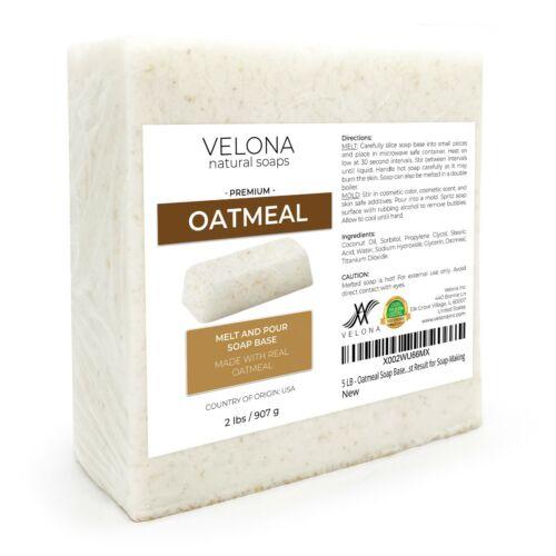 2,4,5,10,24 LB - Oatmeal Soap Base by Velona   SLS/SLES free   Melt and Pour