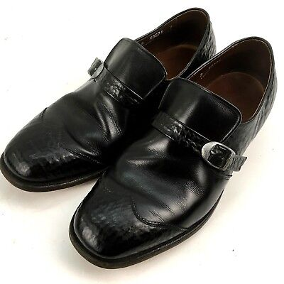 Allen Edmonds Mens Loafer Buckle Shoes 9 D Black Ostendo Capri Cushioned Heel