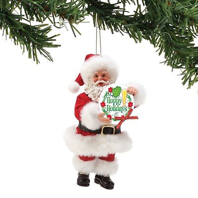 6002160 Possible Dreams Christmas Ornament  Santa NWT Hoppy holidays Beer