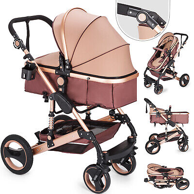 Newborn Baby Stroller Luxury Buggy Pram Foldable Pushchair Infant Carriage