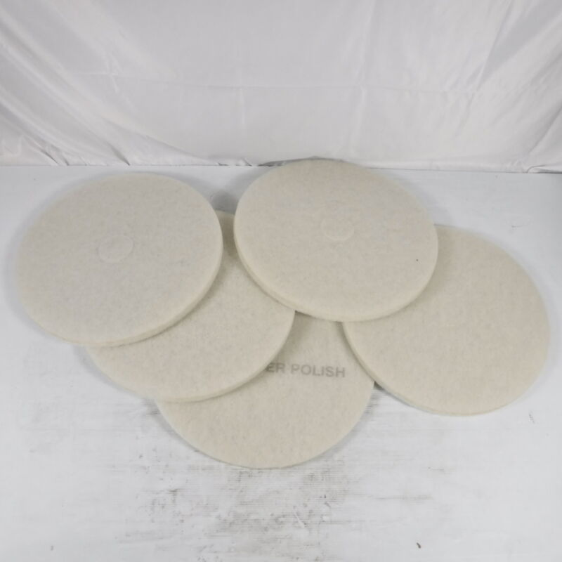 "3M 20"" Super Polishing Floor Pads in White 4100, 5 Pads"