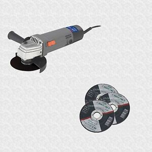 500W-115mm-4-1-2-ELECTRIC-ANGLE-GRINDER-3-Stone-cutting-Discs