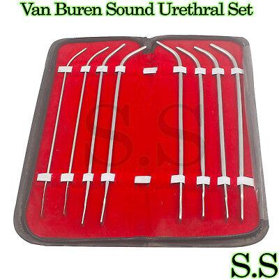 5 Van Buren Sound Urethral Set Of 8 Surgical Instruments