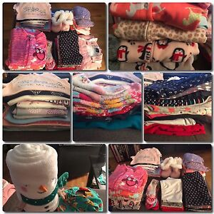 Large lot of baby girls clothing