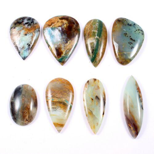 214 Cts Natural Peruvian Opal Cabochon 8 Pcs Wholesale Lot Loose Gemstone SG531