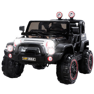 Black 12V Kids Powered Ride on Car Electric Battery Wheel Remote Control 4 Speed