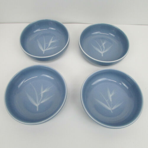 MCM Winfield Blue Pacific Bamboo CALIFORNIA POTTERY Mid Century Berry Soup Bowls
