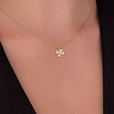 Four Leaf Clover Necklace 4 leaf clover necklace 24K Gold Plated