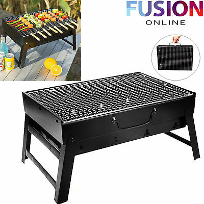 Large Bbq Stand Barbecue Foldable Steel Flat Portable Camping Outdoor Garden