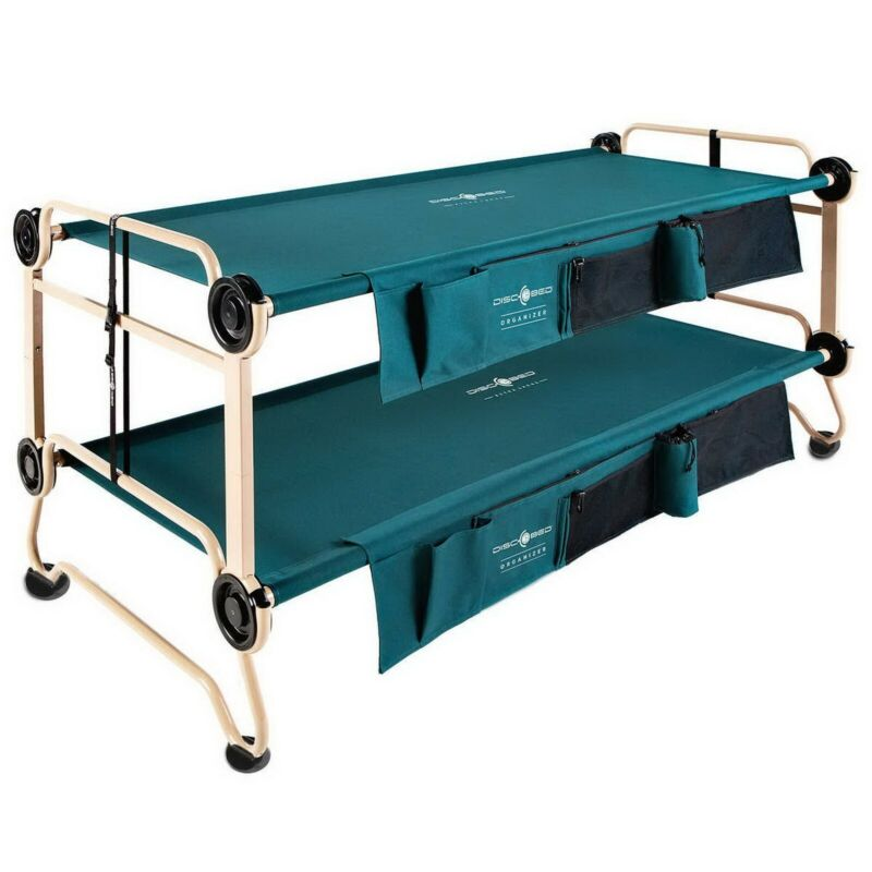 Disc-O-Bed XL Portable Camping Bunk Beds Cot converts to Bench In Outdoor