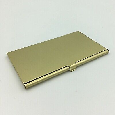 Brass Pocket Business Card Holder Case ID Credit Wallet Gold