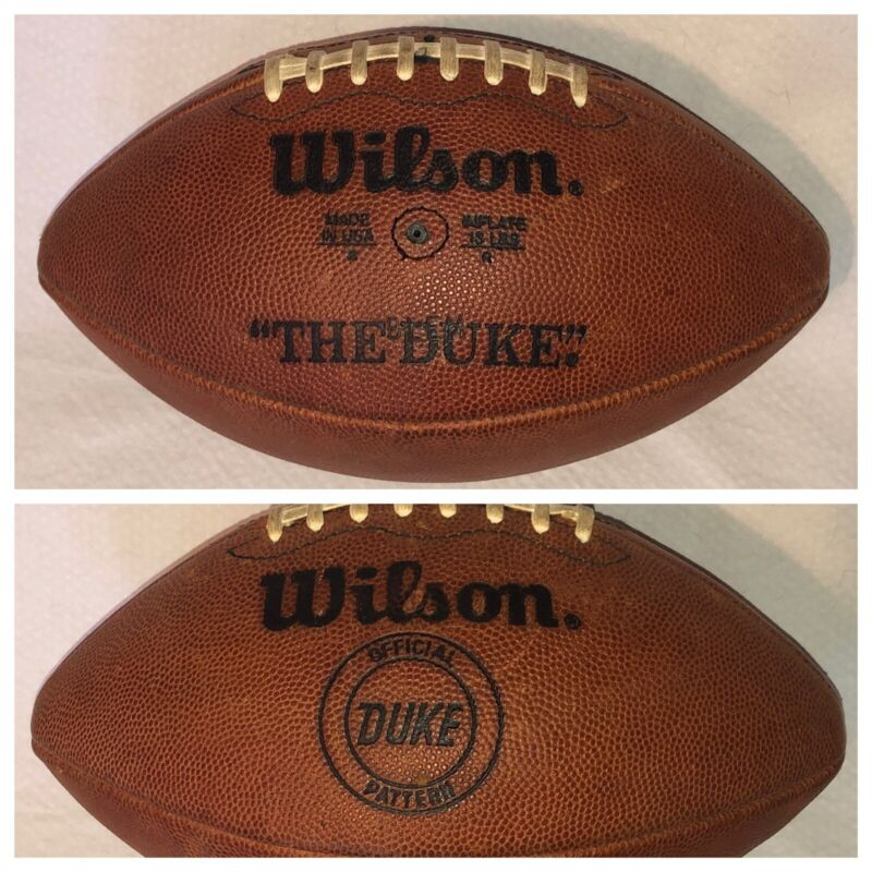 Vintage Wilson The Duke Official Pattern Football Made In USA - BLEM