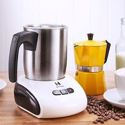 Heska - Electric Milk Frother & Warmer - Dishwasher Safe Hot and Cold Milk WHITE