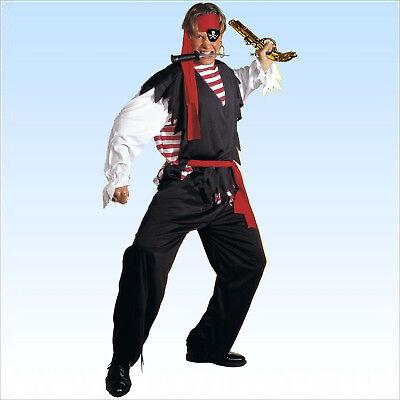 Piratenkostüm Kostüm Pirat Gr. S-XL Seeräuber Kapitän Karnevalskostüm Hook ()
