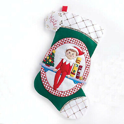 Christmas Stocking Sale (Felt Embroidery Kit ~ Elf on the Shelf Christmas Stocking #86508)