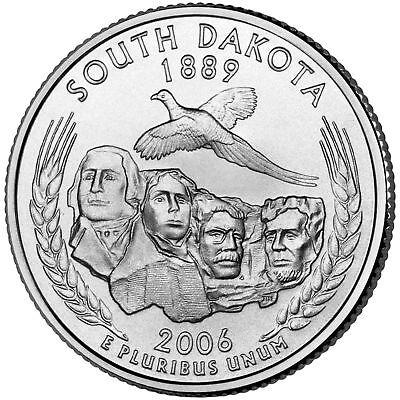 2006 P South Dakota State Quarter, BU Coin, Clad. Finish Your Coin Book  -