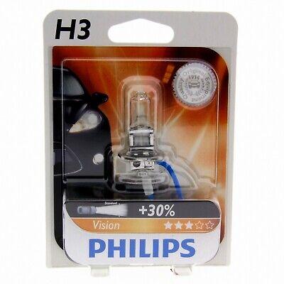 H3 Philips Vision Halogenlampe bis zu 30% mehr Licht 12336PR Blister 1 Stück