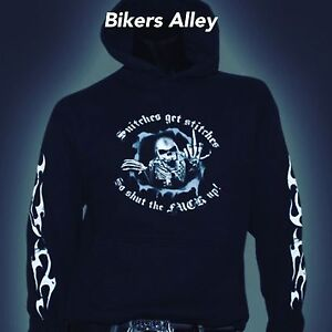 Hoodies Snitches Get Stitches Motorcycle/Biker Apparel