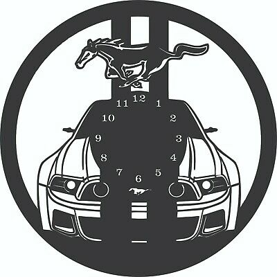 Cnc Vector Dxf Plasma Router Laser Cut Dxf-cdr Vector Files - Mustang Clock