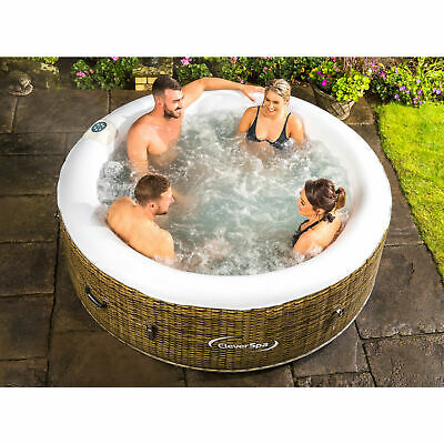 Hot Tub 4 Seater Inflatable Spa Massaging SWIMMING pool garden outdoor patio new
