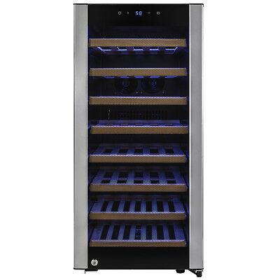 38 Bottle Single Zone Adjustable Control Freestanding Compressor Wine Cooler