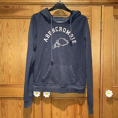 ABERCROMBIE & FITCH Women's Hoodie M Medium Grey Cotton