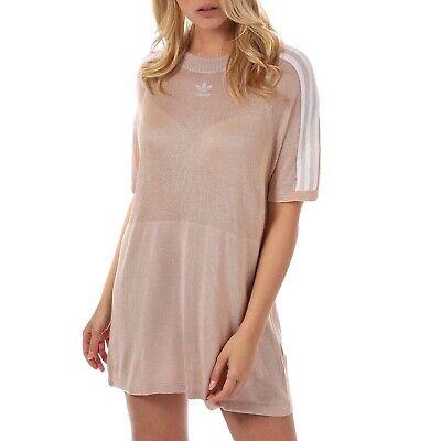 adidas Originals Womens Trefoil Crew Neck Knitted Short Sleeve Dress - 6