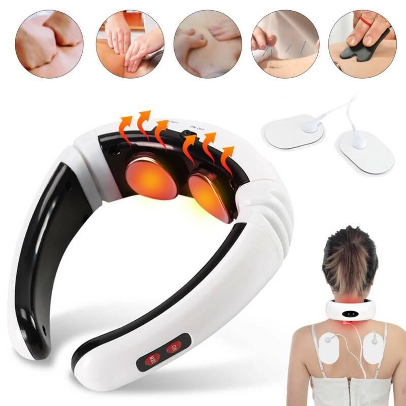 Elektrisch Nackenmassagegerät Halswirbel U-Neck Schulter Rücken Shiatsu Massage