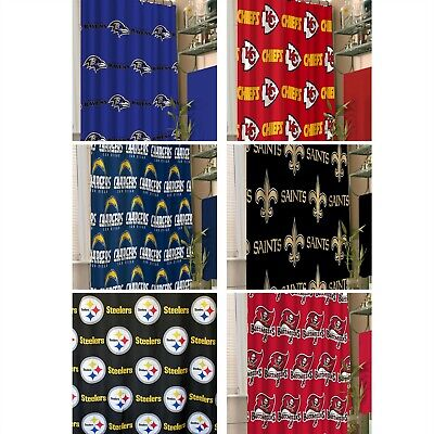 NFL Shower Curtain - Sports Footbal Team Logo Bathroom Accessory PICK YOUR TEAM - Logo Nfl Shower Curtain