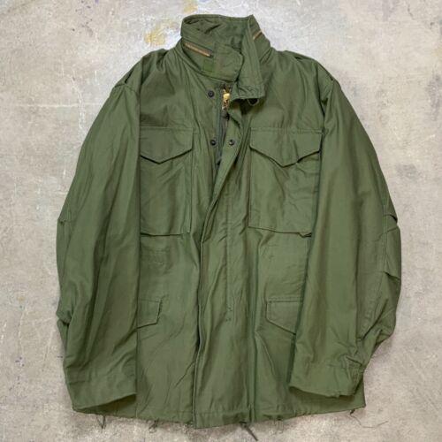 Vintage 1970s 1975 Deadstock NOS M-65 Field Jacket OG Coat Men's Small