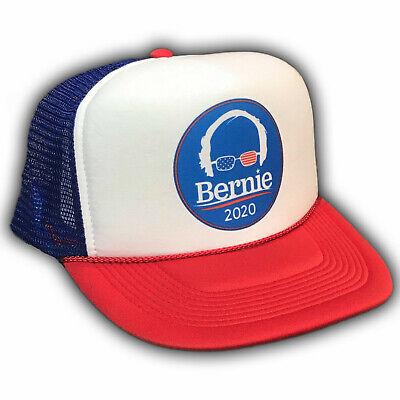Bernie Sanders For President 2020 Trucker Hat Feel The Bern Burn Hair Glasses