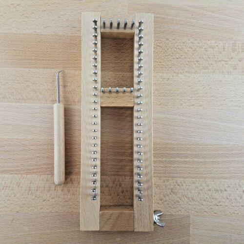 Adjustable Wooden Sock Knitting Loom- Knitting Board With Hook