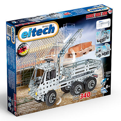 EITECH Metallbaukasten LKW mit Kipper & Ladekran 340 Teile