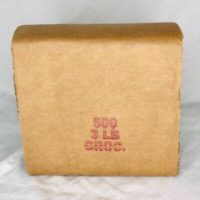 500 Piece Bundle of 3 lb Brown Kraft Paper Grocery Bag Lunch Sacks New