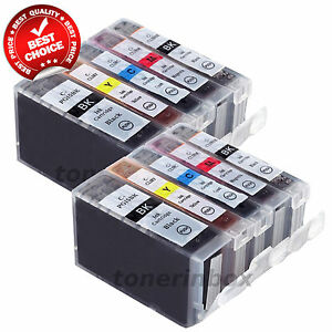 10pk PGI-5BK CLI-8 Ink Set For Canon PIXMA iP5200R MP500 MP530 MP600 MP610 MP800