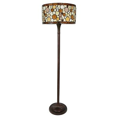 Tiffany Style Contemporary Drum Floor Lamp 16