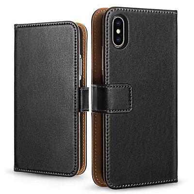Genuine Leather Wallet Case For New Apple iPhone X Best Slim Flip Folio