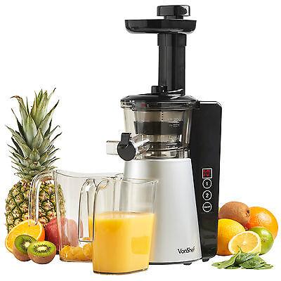 VonShef Digital Slow Masticating Juicer Fruit Vegetable Cold Press Extractor