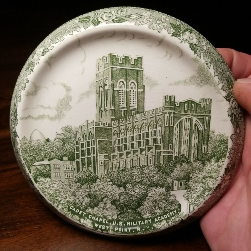 Cadet Chapel U S Military Academy Collector Plate  GREEN Jonroth West Point NY