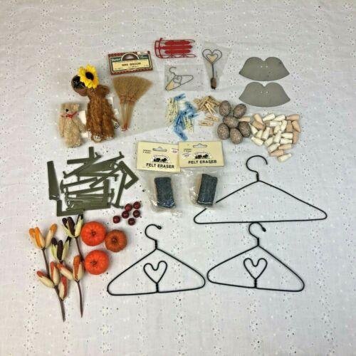 Grab Bag Full Lot of Vintage Dollhouse Miniatures Tiny Toys Tools Milk Bottles