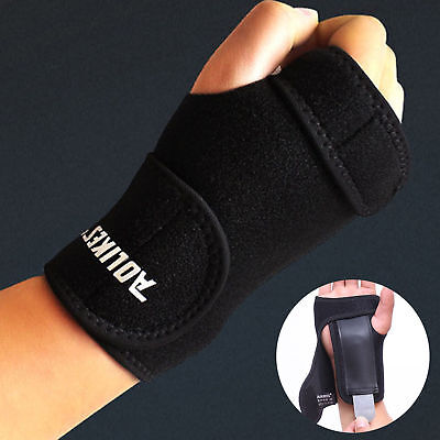 (Wrist Brace Support Removable Hand Splint Support Carpal Tunnel Pain Relief Wrap)