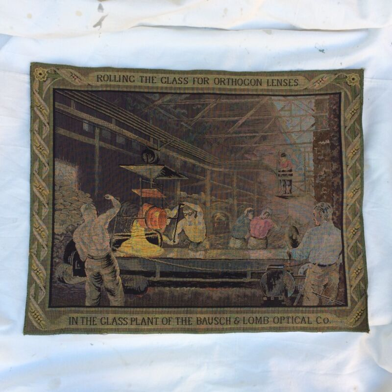 Colorful Antique Bausch & Lomb Tapestry