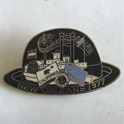 Older Lions Club International Pin MD 4 California Nevada- 1977 New Orleans