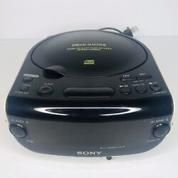 Sony ICF-CD814 Dream Machine Stereo CD Clock AM FM Radio Dual Alarm Aux In Jack