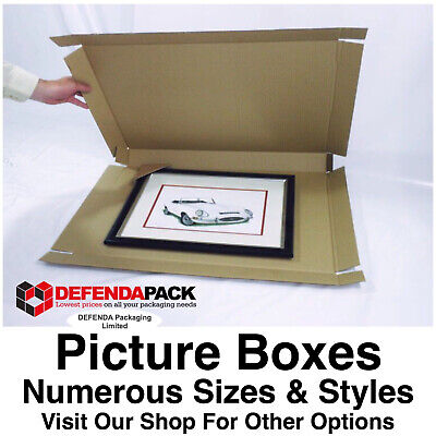 1 x 690mm x 40mm x 590mm Double Wall POSTAL PICTURE ART PAINTING BOXES Wrap
